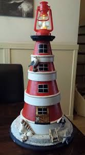 clay pot lighthouse crafts pinterest clay pot lighthouse