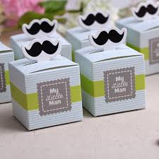 wedding gift boxes 50pcs my mustache birthday boy baby shower favors