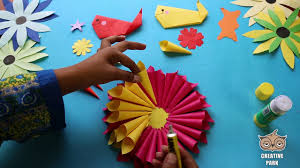 diy paper flower with little paper cone for kids video dailymotion