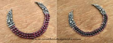 antique necklace silver images Antique indian silver jewellery necklace south india jewels jpg