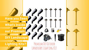 120 Volt Landscape Lighting by Do It Yourself Low Voltage Landscape Lighting Premium Kits Youtube