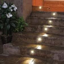 Recessed Outdoor Wall Lights Outdoor Led Recessed Stair Light Kit 8 Pack Dekor Lighting