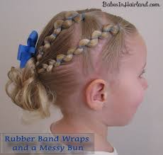 hairstyles using rubber bands rubber band wraps messy bun video babes in hairland