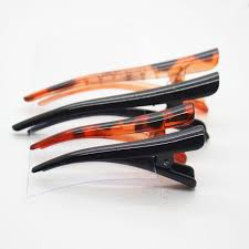 alligator for hair 4 pcs set black tortoiseshell multi size alligator hair