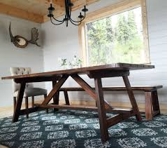 free dining room table plans ana white build a 2x4 truss table for alaska lake cabin free