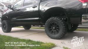 Customer Best Recommendation 35x14 50x20 Tires 18 9 U2033 Xd Misfit Black Wheels With 35 12 50 18 Nitto Mud Grappler