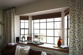 Modern Bay Window Curtains Decorating Merry Modern Bay Window Treatments Outdoor Fiture