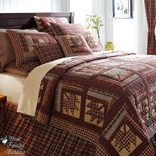 Oversized King Comforters And Quilts Quited Bedding Log Cabin Lodge Twin Queen Cal King Oversized