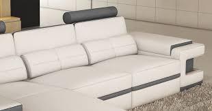 canapé d angle en cuir gris canape angle cuir gris luxe deco in canape d angle cuir blanc