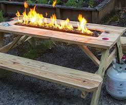 Table Firepit Pit Picnic Table