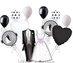 bridal shower best wishes 12 pieces best wishes groom balloon bouquet wedding marriage