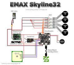 skyline32 naze32 setup wiring guide to motors and esc