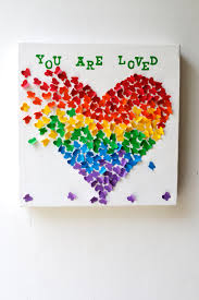 Decor Unique You Are Loved 3d Butterfly Art Butterfly Rainbow Heart