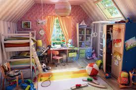 childrens room picture 3d illustration interior cartoon room