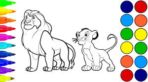 disney the lion king simba coloring book for children learn