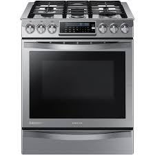samsung chef collection 30 in 5 8 cu ft slide in gas range with