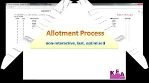 cet 2013 allotment process presentation youtube