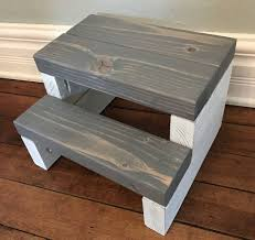 personalized rustic segmented kids step stool toddler step stool