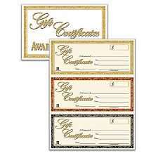 gift certificates gift certificates kit pack of 30 certificates by office