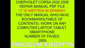 chervolet corsa 2002 2003 2004 2005 2006 corsa manual de taller