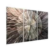 Modern Wall Clocks Amazon Com Modern Abstract Silver Functional Art Metal Wall Clock
