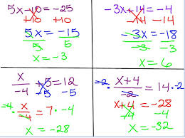 two step equations worksheet with answer key