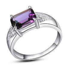 design silver rings images Simple design free shipping 925 sterling silver amethyst ring 925 jpg