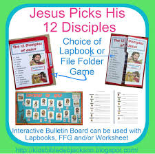 jesus picks his disciples free lesson printables and lapbook