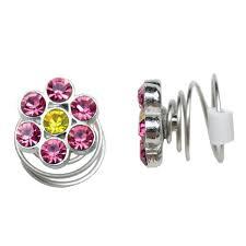 children s earrings childrens jewelry non pierced twist stud earrings pink