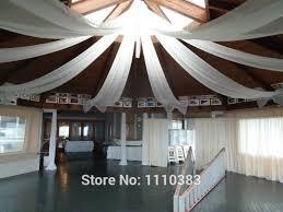 Chiffon Ceiling Draping Aliexpress Com Buy 2ftx32ft Flat Wedding Ceiling Drapery Party