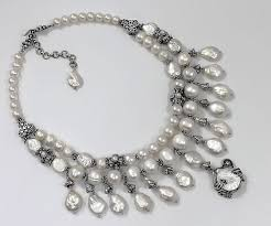 sterling silver pearls necklace images Sterling silver pearls necklace jpg