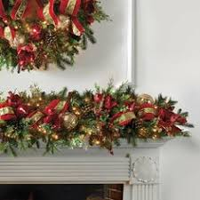 pre lit garlands happy holidays