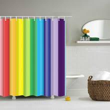 Stripe Shower Curtains Popular Rainbow Stripe Shower Curtain Buy Cheap Rainbow Stripe