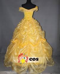 Halloween Costume Wedding Dress Women Big Gown Wedding Princess Belle Dress Beauty Beast