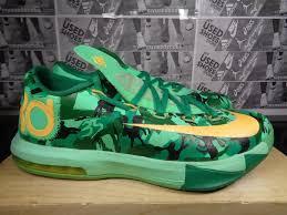 kd vi easter nike kd vi 6 green camo mango men s basketball shoes size 8 us