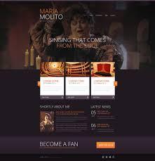 free resume website templates elegant opera singer website template 47441 elegant opera singer website template
