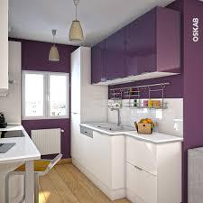 cuisine parall鑞e cuisine aubergine modèle keria aubergine brillant pantry