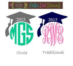 monogram graduation cap graduation cap monogram decal personalized by designsbyjenmarie