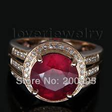 ruby rings sale images Solid 14kt rose gold natural diamond red ruby wedding ring ruby jpg