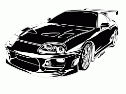toyota supra drawing supra stencil by andrew neilen advanced photoshop