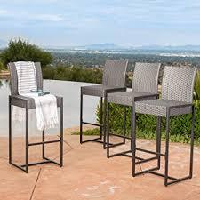 amazon com conrad patio furniture outdoor bar stools grey