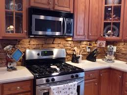 kitchen cabinets veneer tiles backsplash interior natural stone brick kitchen backsplash
