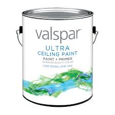 shop valspar white flat latex interior paint and primer in one