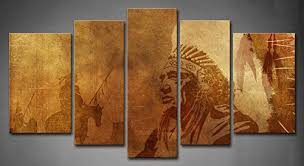 native american home decor wall art designs native american wall art 5 panel wall art brown