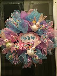 easter wreath easter bunny wreath deco mesh spring wreath