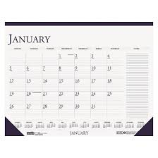 White Desk Pad House Of Doolittle Recycled Two Color Monthly Desk Pad Calendar