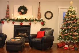 Christmas Decorations For Fireplace Mantel Christmas Living Room Decorating Ideas Christmas Tree Wood Frame
