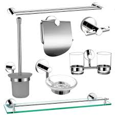Chrome Bathroom Accessories Sets by Chrome Bathroom Accessory Set Bathroom Design Chrome Bathroom