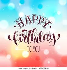 happy birthday greeting card template hand stock vector 470386643