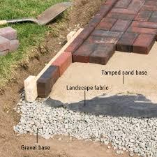 Paver Patio Edging Options Paving Stones For Patios Landscape Edging Ideas Brick Patio